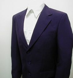 Outfits that matches Amazing Jake's color scheme - New men's three button single breasted purple dress suit.