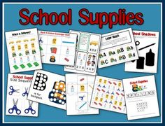 Free Preschool Printables Go to 2 Teaching Mommies for a free preschool printables school supplies unit! Click below for more. Free Preschool, Preschool Themes, Preschool Printables, Preschool Kindergarten, Classroom Activities, Classroom Ideas, Free Printables, Preschool Worksheets, Tot School