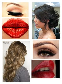 """""""hair and makeup for quiz thingayy"""" by hannahbanana-133 ❤ liked on Polyvore"""