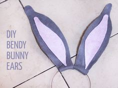 Make this DIY Bendy Bunny Ears Headband Craft for Easter bunny role play, or for…