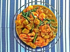 Shrimp, Squash and String Beans in Coconut Milk.