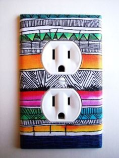 Cool plug to spice up your room with some  more colour