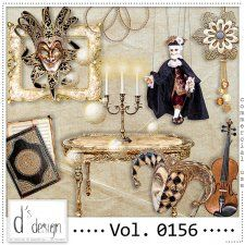 Vol. 0156 - Venice Masquerade Mix  by Doudou's Design  #CUdigitals cudigitals.com cu commercial digital scrap #digiscrap scrapbook graphics