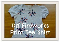 DIY Fireworks or Snowflake Print Tee Shirt from Palmettos and Pigtails