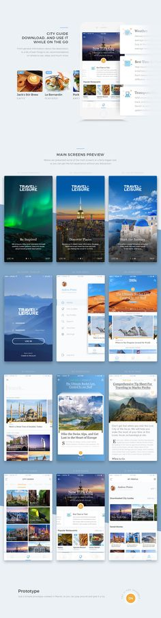Travel + Leisure - Concept Re-Design on Behance