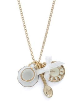 How cute is this? It's a tea cup, spoon and clock