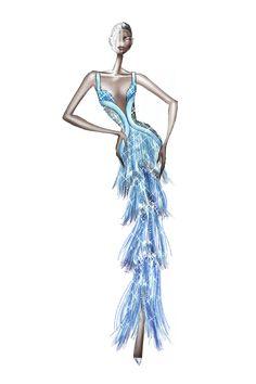 Ralph & Russo Fall 2020 Couture Collection - Vogue Boutique Haute Couture, Style Couture, Couture Fashion, Couture Trends, Fashion Design Drawings, Fashion Sketches, Fashion Illustrations, Top Models, Vogue Paris