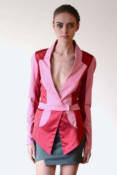 Natural Energy jacket in Red and Pink