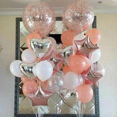 Foil Confetti Latex Balloon Wedding Decoration Set 18 Pcs / Set - Home Page Wedding Balloon Decorations, Graduation Decorations, Wedding Balloons, Birthday Balloons, Birthday Party Decorations, 5 Balloons, Latex Balloons, Confetti Balloons, 18th Birthday Party