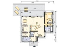 Projekt domu Lagos III DCP117b - kup od autora - Lipińscy Domy Floor Plans, Exterior, Contemporary, House, Lakes, Author, Projects, Home, Outdoor Rooms