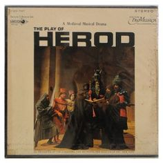 Box The Play of Herod – A Medieval Musical Drama – Duplo Importado