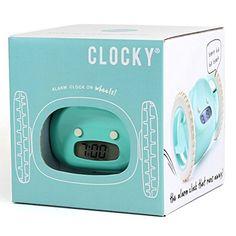 Clocky Aqua - The Runaway Alarm Clock