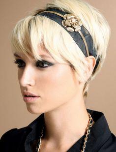 Short Blond Pixie Cut