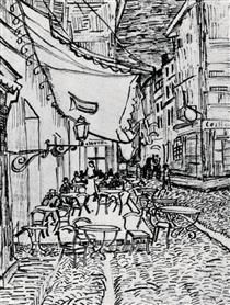 The Cafe Terrace on the Place du Forum, Arles, at Night - Vincent van Gogh