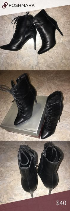 BRECKELLES'S BLACK BOOTIE! Breckelle's Perfect black bootie, 4 1/2 heel, in perfect condition! Worn once! Breckelles Shoes Ankle Boots & Booties