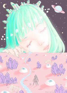 saccstry: Crystal dream planet · #Tumblr #Art