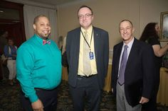 Executive Director of J-FLAG Dane Lewis (left) with U.S. Embassy officials - Christopher Degnan (center) Public Affairs Officer at a forum for International Day Against Homophobia and Transphobia (IDAHOT).