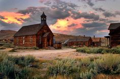 Bodie, California is a ghost town east of the Sierra Nevada mountain range in Mono County, California (coolinterestingstuff.com)