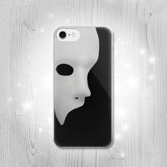 Phantom of The Opera Mask Transparent Clear Case by Lantadesign