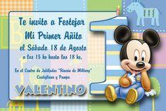 Invitación para el primer cumple de Valentino