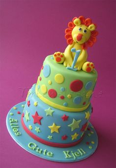 Child birthday cake decorating ideas for lion cakes and cupcakes kids party little boys animals Lion Birthday, 1st Birthday Cakes, Super Torte, Lion Cakes, Birthday Cake Decorating, Novelty Cakes, Occasion Cakes, Celebration Cakes, Themed Cakes