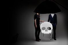 Little dark, but interesting skull shaped plastic chair from design studio Pool