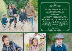 Festal Flourishes - Christmas Cards - Sarah Hawkins Designs - Velvet - Red : Front