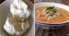 Tradičná bryndzová polievka - Receptik.sk Thai Red Curry, Soup, Ethnic Recipes, Soups