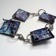 Items similar to Blue & Purple Splatter Art Bracelet on Etsy Splatter Art, Etsy Store, Purple, Blue, Girly, Personalized Items, Bracelets, Style, Lady Like