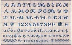 Russian alphabet. Free Easy Cross, Pattern Maker, PCStitch Charts + Free Historic Old Pattern Books: Book with Patterns - книга съ узорами мануфактура вышивокъ