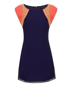 Look at this London Dress Company Navy & Coral Michelle Dress - Women on #zulily today!