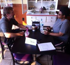 Coffee & Caskets (West) One on One Consultation at the conclusion of our first EOL information event at Aroma's