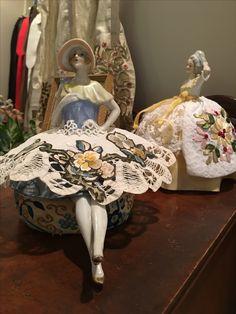 Half doll pincushions by Dawn Morehead