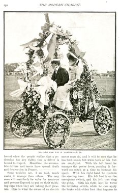 Mr. & Mrs. William K. Vanderbilt II (Virginia Graham Fair) | c. 1900 Newport Automobile Parade