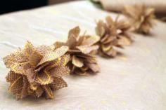 DIY Tutorial Burlap Flowers / DIY How To Make a Burlap Flower - Bead&Cord