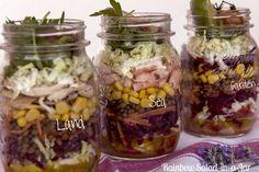 Rainbow Salad-in-a-Jar