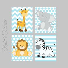 JUNGLE NURSERY ART Jungle Nursery Decor safari by KalasKorner