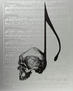 Skull music note
