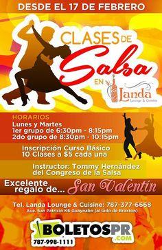 Clases de Salsa @ Landa Lounge & Cuisine, Guaynabo #sondeaquipr #clasesdesalsa #landaloungecuisine #guaynabo