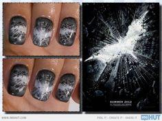 The Dark Knight Rises' Nail Art