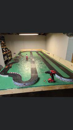 Ho Slot Cars, Slot Car Racing, Slot Car Tracks, Kart Parts, Car Racer, Baseball Field
