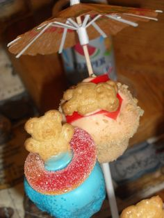 Pool party cake pops!