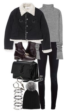 """""""Untitled #11002"""" by nikka-phillips ❤ liked on Polyvore featuring Closed, Acne Studios, Free People, Yves Saint Laurent, Harrods, M.N.G and H&M"""