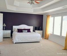Purple Feature Wall Bedroom
