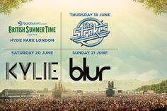 2 Day British Summer Time Hyde Park Tkts - see Kylie, Blur or The Strokes!