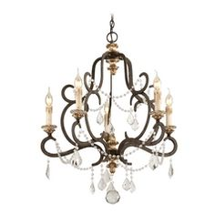 Crystal Chandelier in Parisian Bronze Finish
