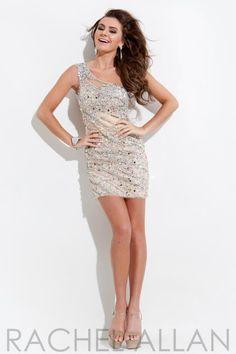 Rachel Allan One Strap Dress 6634
