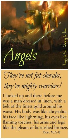 When you think about angels, how do you picture them? Chubby cheeked angels on Valentine Cards? The Bible describes a very different version of these heavenly beings. Double click on the image to read the 5-minute devotion, Hungry for God: Angels are not fat cherubs – Debunking the Myths