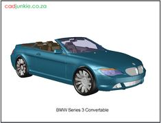 3d Vehicle: BMW Series 3 Convertible Bmw Series, Series 3, Autocad, 3d Cad Models, Cad Blocks, Convertible, 3 D, Vehicles, Infinity Dress