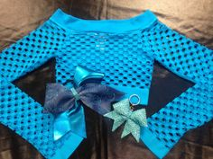 Mesh Top/Bow/Keychain Matching Set  by CheerLover2Worlds on Etsy, $30.00